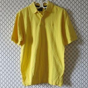 IZOD Silk Wash Short Sleeve Yellow Golf Polo Shirt